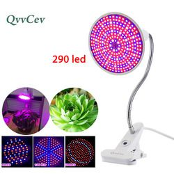 60 126 200 290 Led Plant Grow Light bulbs for Flower Growing lamp Indoor greenhouse hydroponic Flexible Lamp Desk Holder Clip