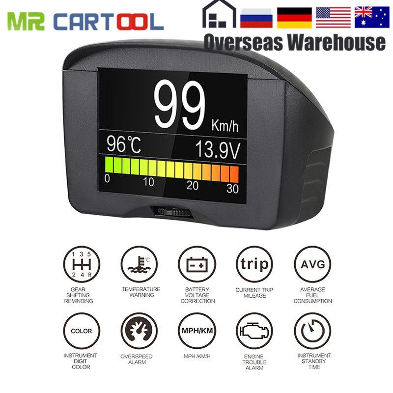 AUTOOL X50 Plus HUD Head up Display Multi-Function Car OBD Smart Digital Meter Temperature Gauge Alarm Fault Code Voltage Speed