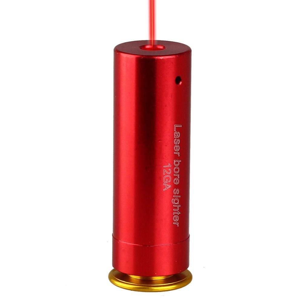 12 GAUGE 12GA Patrone Laser Pointer Bore Sighter Boresighter Rot Sichtung Sight Boresight Red Kupfer Schrotflinte
