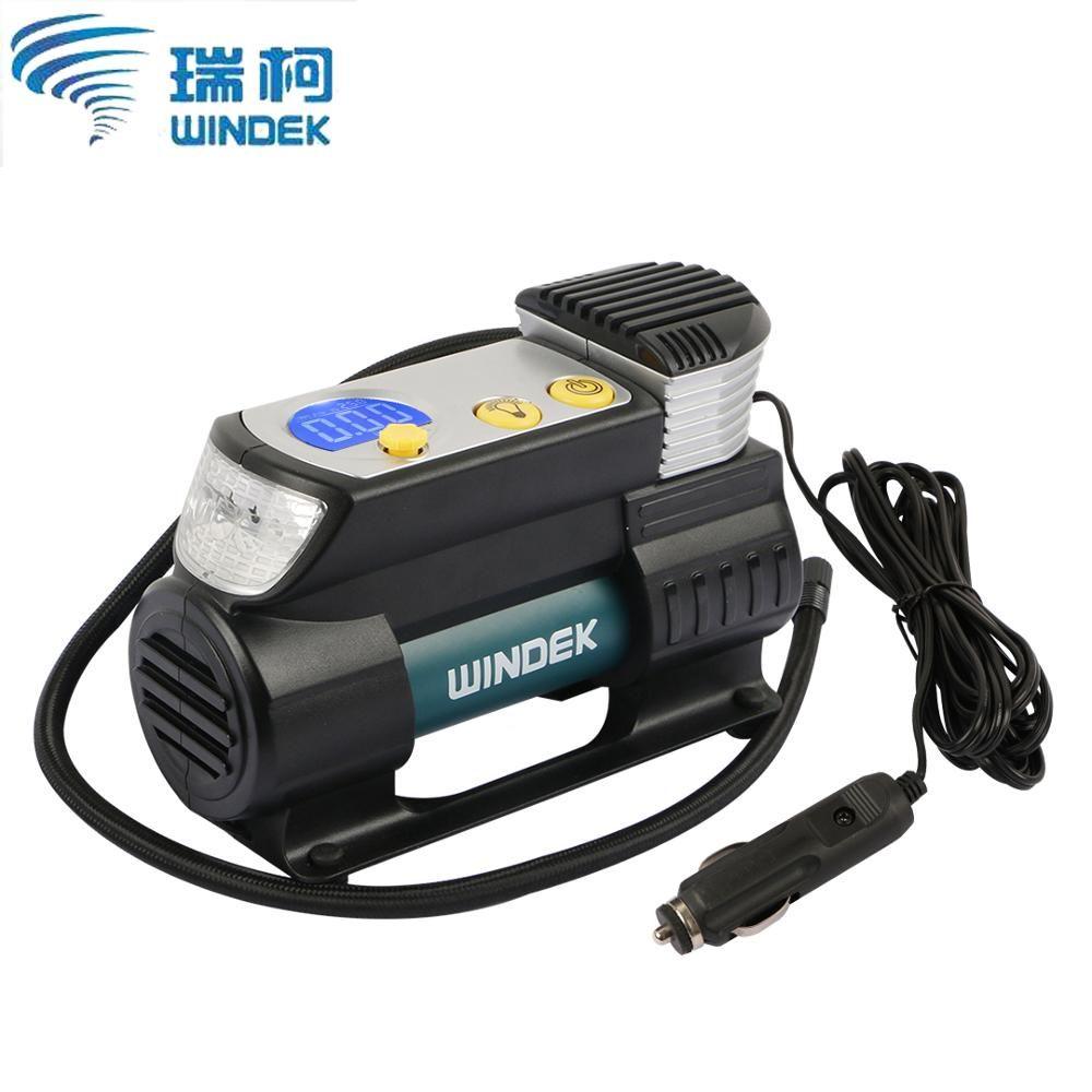 WINDEK Car Air Compressor 12V Electric Auto Tire Inflator Pump With Preset & Auto Stop Function SUV Super Fast Air Compressors