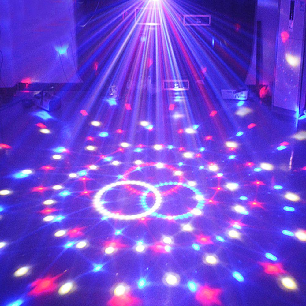 DMX Láser Para Bola Del Disco Del Partido de DJ Luces de Discoteca Led Par Control de Sonido Del Proyector de la navidad 9 Colores Magic Ball Etapa de La Lámpara 21 Modos