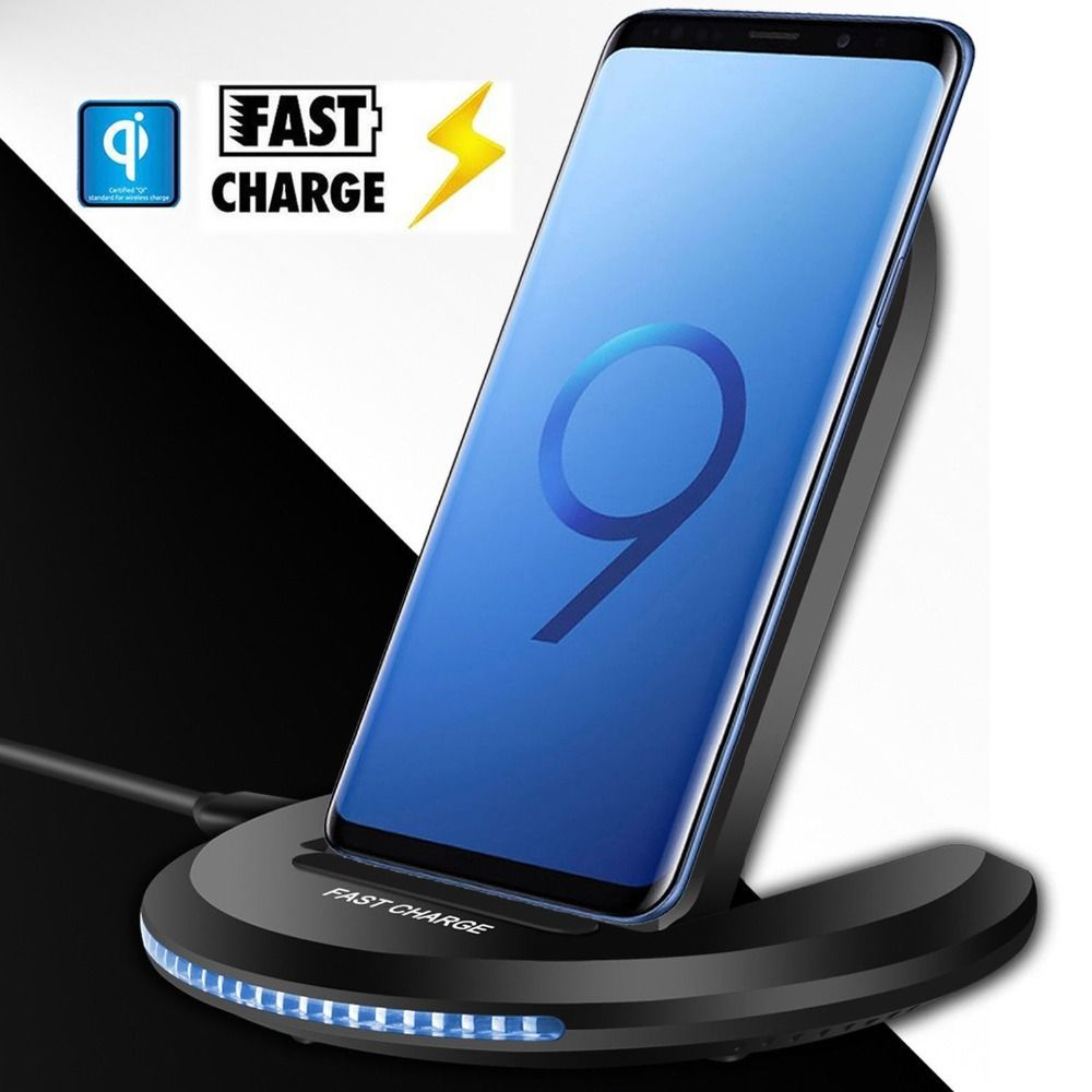 Universal 10W Qi Wireless Charger for iPhone X 10 8 Plus Samsung Galaxy S9 S8 Note 8 Xiomi Phone Fast Wireless Charging Stand