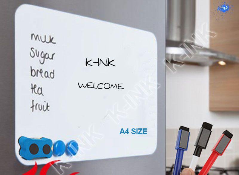 A4 taille nouveau tableau blanc magnétique créatif, tableau blanc souple comme aimant de réfrigérateur/marqueur de bureau tableau noir/autocollant
