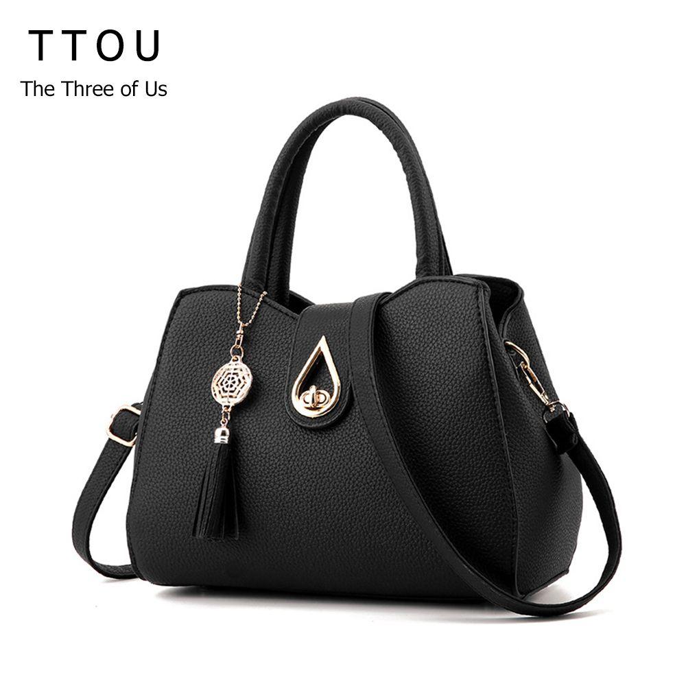 TTOU Women Tassel Pendant Handbag Water Droplets Sequined <font><b>Messenger</b></font> Bag High Capacity Shell Shoulder Bag Female