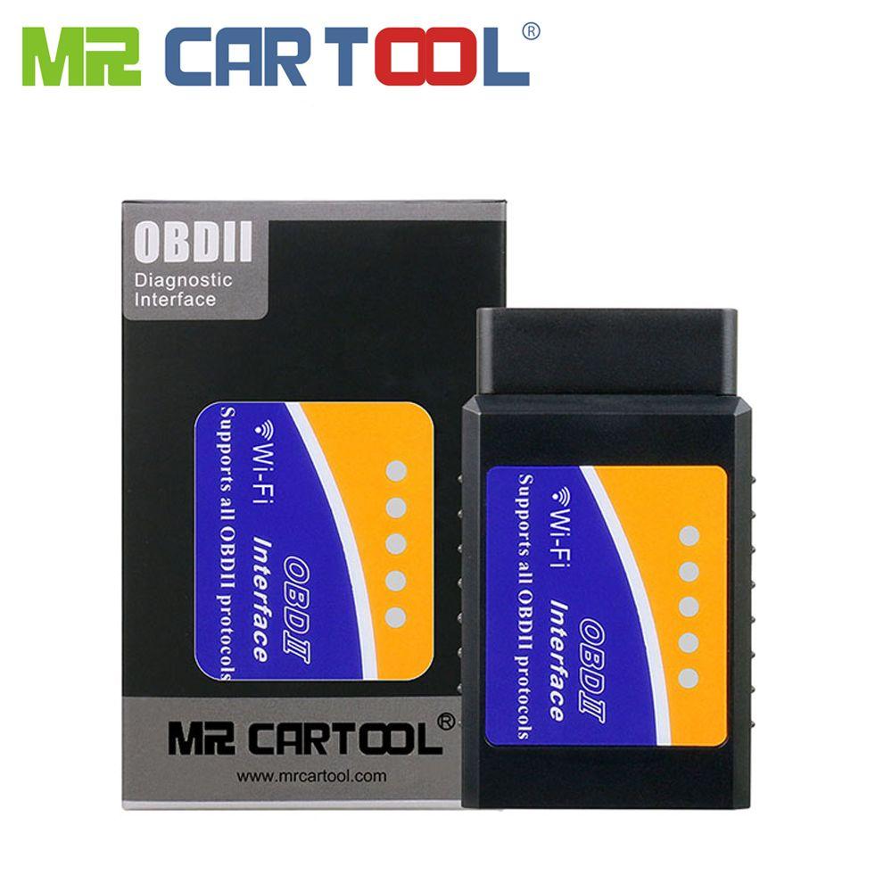 Outil de Diagnostic automatique de Scanner de voiture OBD2 II ODB2 de Mr Cartool 327 EML 327 V1.5 Wifi Bluetooth ELM327 pour le téléphone d'android IOS