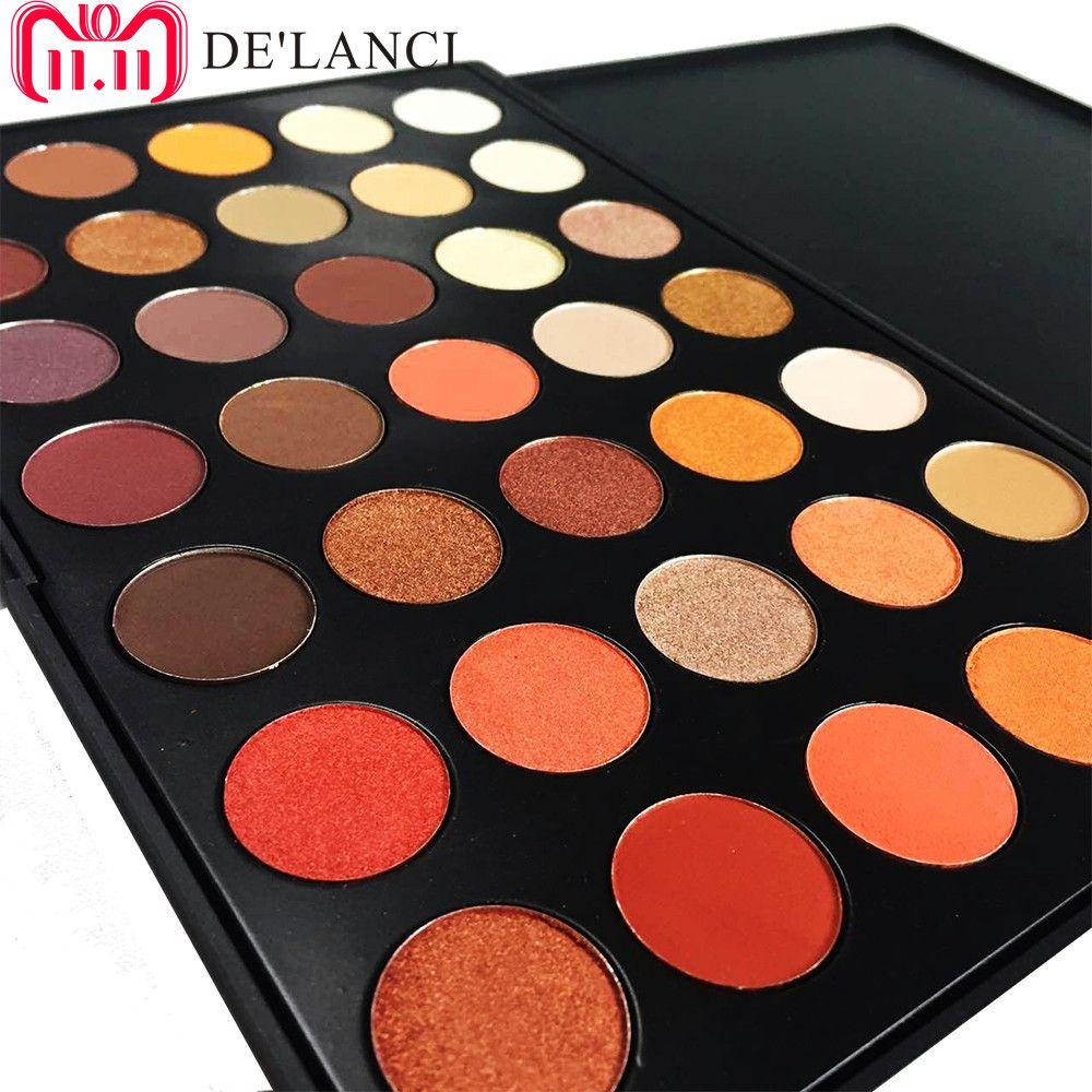 DE'LANCI Date 35 Couleurs Shimmer Mat ombre à paupières Maquillage Fard À Paupières Professionnel Palette Beauté Make up Set