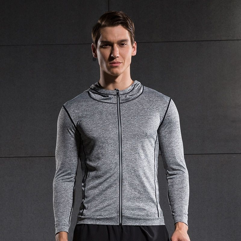 Men Running Run Jacket Sweaters Compression Tights Fitness Exercise Outdoor Sports Soccer Football Gym Jogging Jogger Jackets