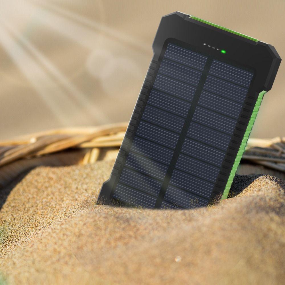 Pour XIAOMI Iphone 6 7 8 20000 mah Portable batterie Portable solaire 20000 mAh externe batterie double USB powerbank Charge téléphone chargeur