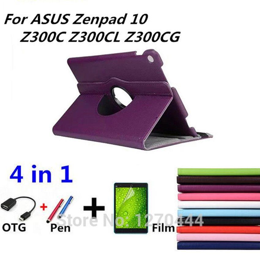 360 Rotating Litchi skin Leather smart cases cover for ASUS Zenpad 10 Z300 Z300C Z300CL Z300CG cover for Asus Z301MFL 2017 cases