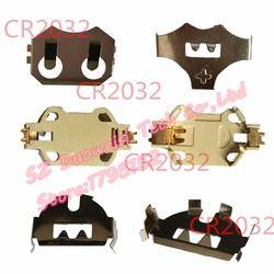 CR2032 button battery holder DIP SMT button battery metal dome metal sharpnel CR2032 button battery holder 10pcs/lot
