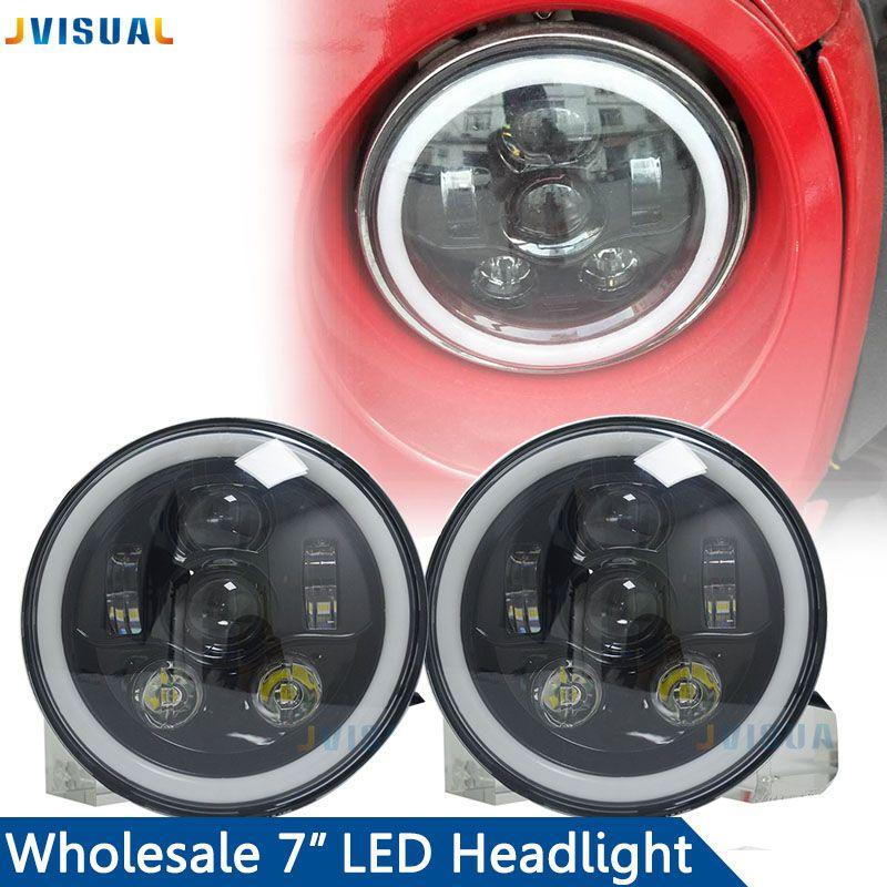 7 inch 50W Car Led Headlight Lada 4x4 Off road Led H4 Hi/Lo Beam led Auto Headlight Kit for Jeep Wrangler JK CJ Motorcycle