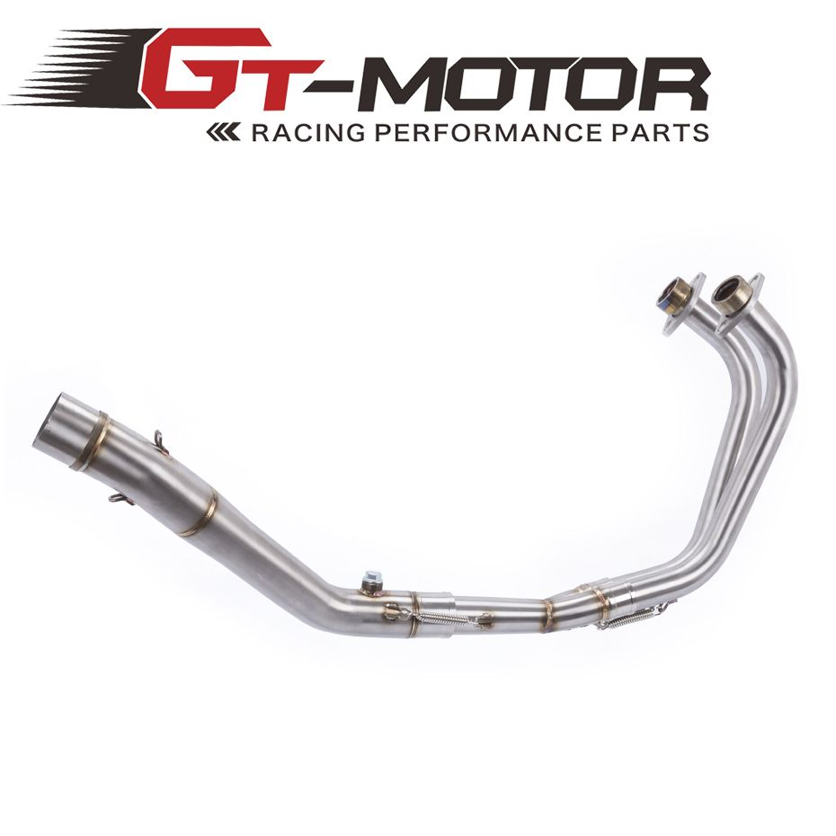 GT Motor - Exhaust Full system pipe FOR YAMAHA R25 R3 2014-2016 without exhaust