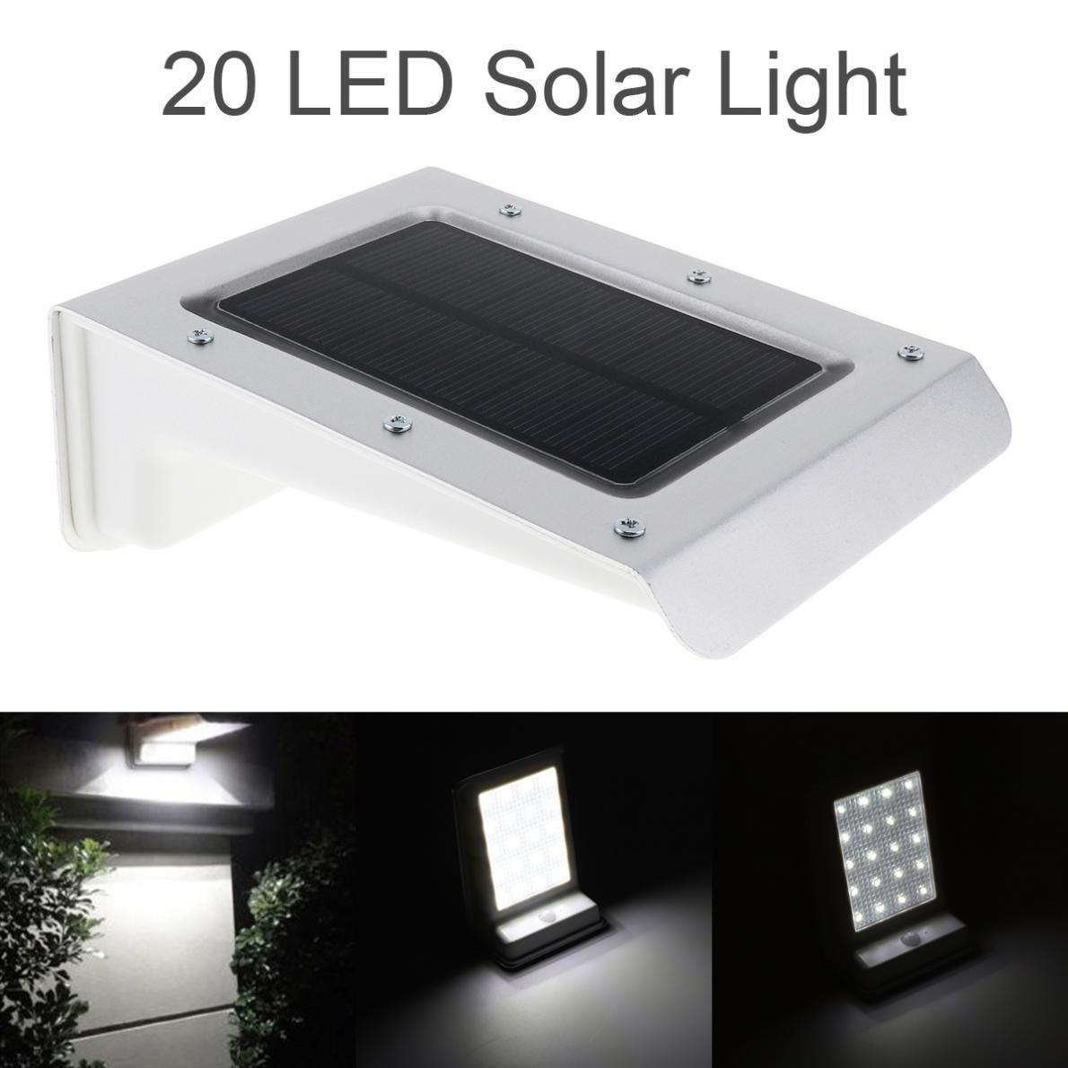 Capteur de mouvement PIR de lampe de sécurité extérieure imperméable Durable de 20 énergie solaire LED