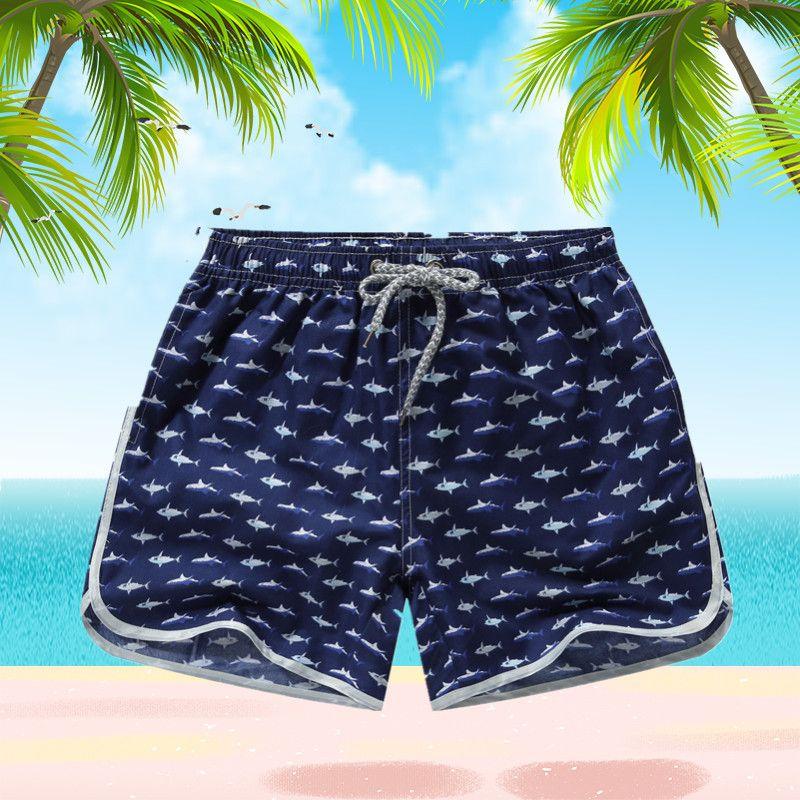 Shorts de plage hommes fonds séchage rapide Shorts impression natation surf Shorts été dessiner chaîne taille élastique Shorts hommes