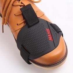 Negro motocicleta protección motocicleta Gear Shifter zapato botas Protector cargador del calcetín cubierta Shifter guardias
