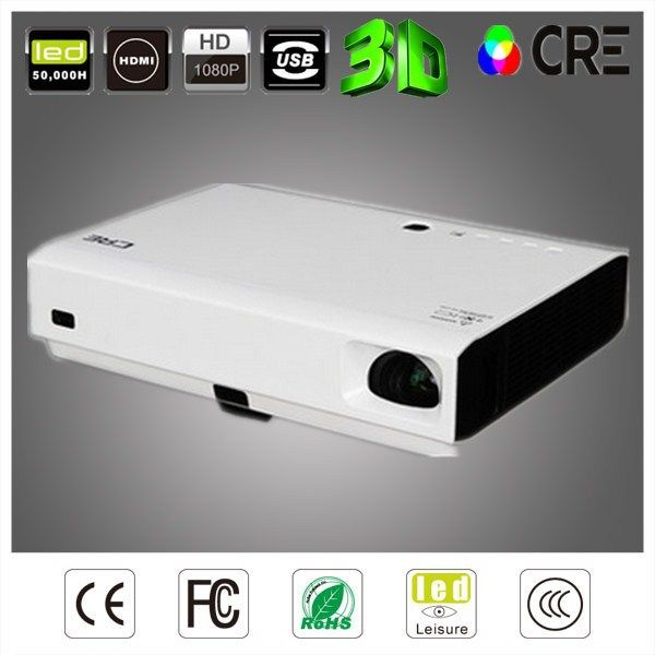 CRE X3001 smart DLP 3LED 3d projektor led led dvd projector 3000lumens short throw dlp android wifi projector