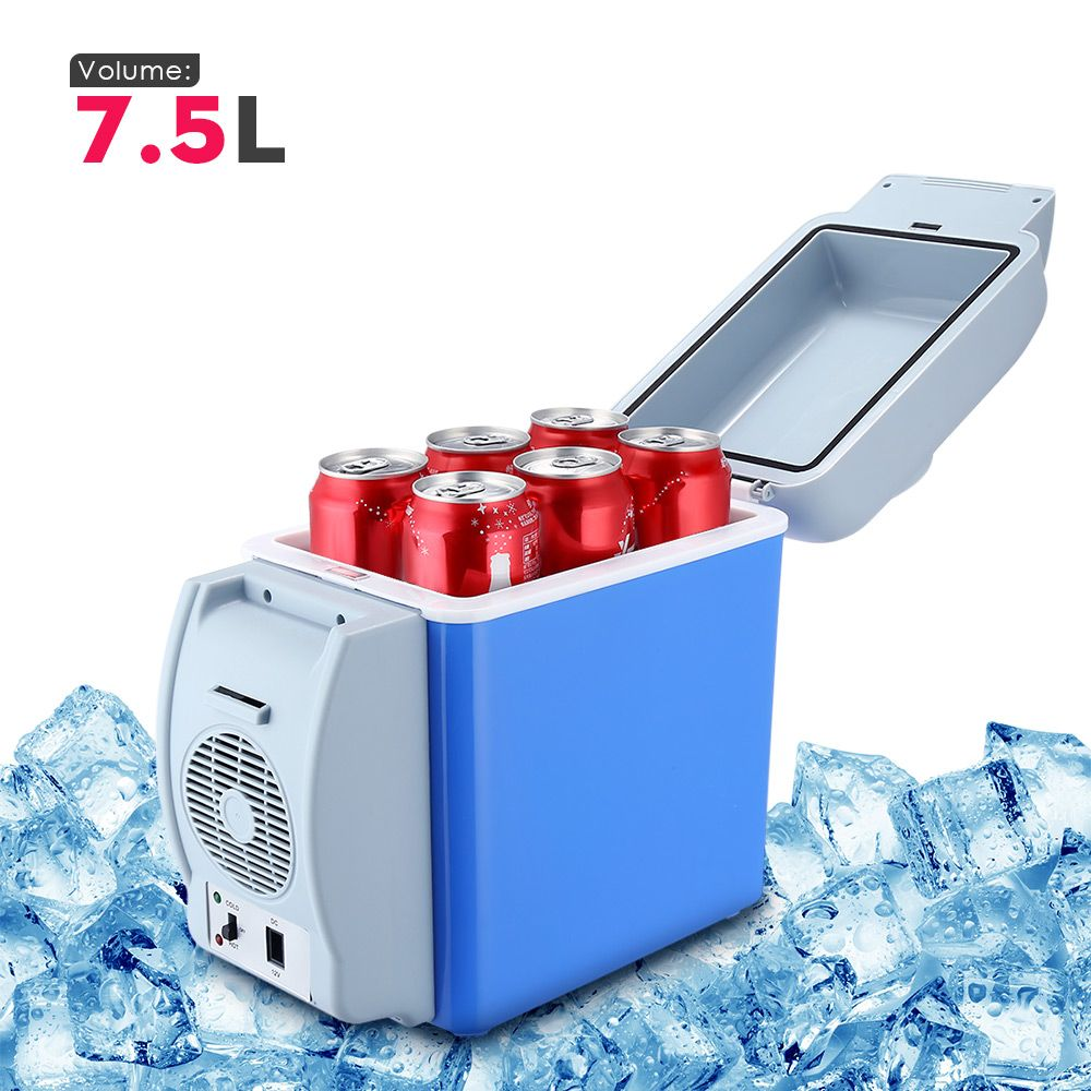 GBT - 3008 7.5L Mini Car Refrigerator Multi-Function Home Travel Vehicular Fridge Dual-use Box Cooler Warmer Temperature Control