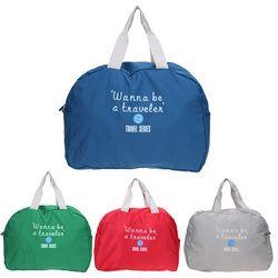 الأزياء حقيبة السفر قدرة كبيرة النساء البوليستر للطي أكياس الأمتعة حقيبة ظهر قطنية للماء رحلة حقائب
