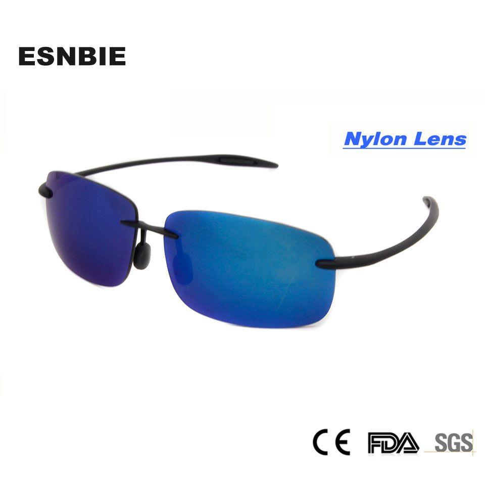 New Cool lunettes de Soleil Femmes UV400 Nouveau Matériel En Nylon Lentille Sans Monture Lunettes De Mode Homme Lunettes de Soleil Shade oculos de sol feminino