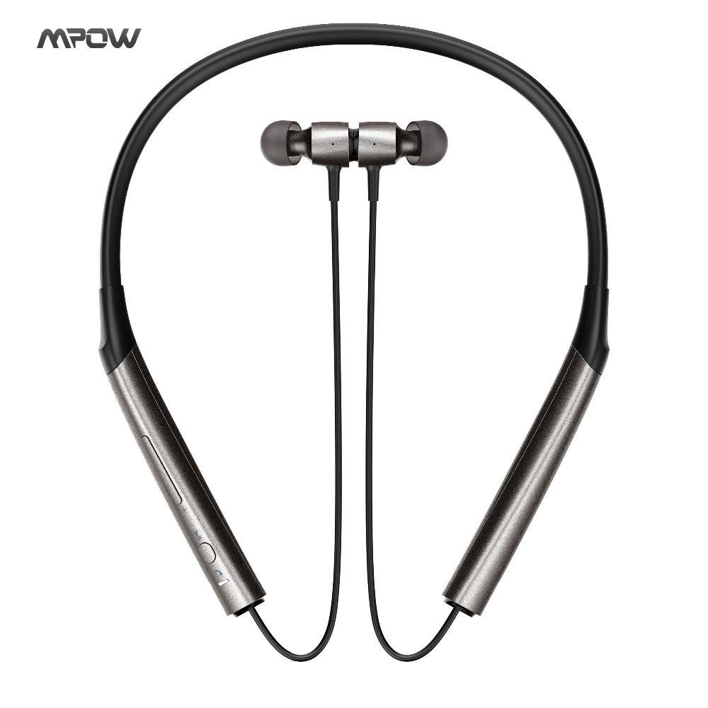 Mpow A1 Bluetooth Headphones Wireless Neckband Headset, Quick-charging Headphones, Hi-Fi Dual Acoustic Chamber Headphones w/ Mi