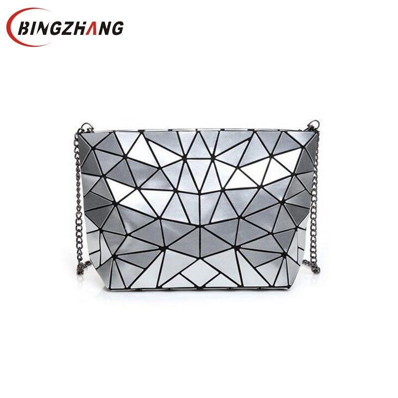 Women Bao Bao Bag New Geometry Laser Handbag Fashion Chain BAOBAO Totes Clutch Shoulder Crossbody Bags For Women bolsos L4-2974