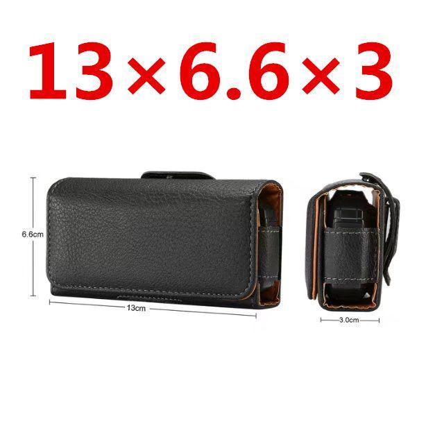 Prime Universel Noir Holster Housse En Cuir Ceinture Couverture Clip Pour Nokia 3310 pour ZTE L660 Pour Neken EN3 pour Gionee W909 Sac cas
