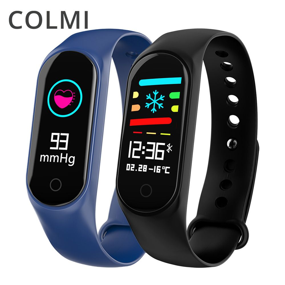 COLMI M3S Smart Bracelet Color-screen IP67 Fitness Tracker blood pressure Heart Rate Monitor Smart band For Android IOS phone