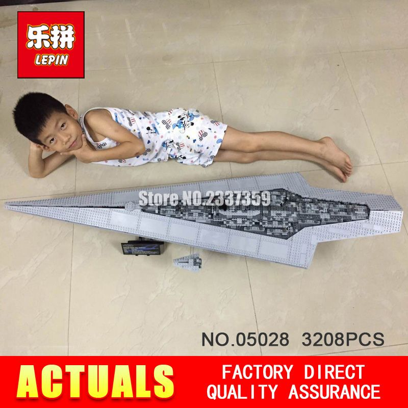 New LEPIN 05028 3208Pcs Toy Execytor Super Star Destroyer Model Building Kit Block Brick Compatible 10221 Boy Gifts