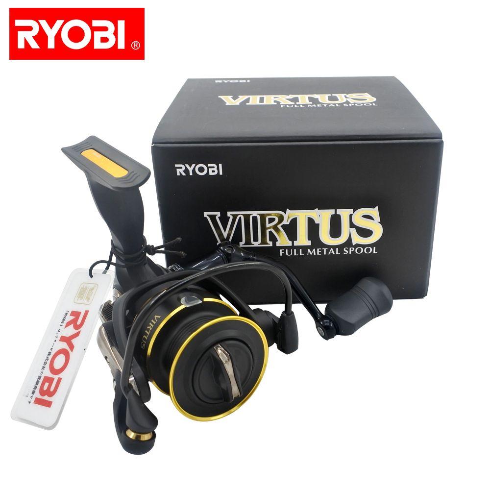 NEW RYOBI fishing line reel VIRTUS 1000-6000 spinning reel full metal spool lure fishing wheel smooth 100% original