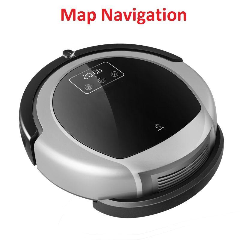 Automatische Staubsauger Roboter B6009, 2D Karte & Gyroskop Navigation, Speicher, Niedrigen Wiederholung, Virtuelle Blocker, UV Lampe, Weter Tank