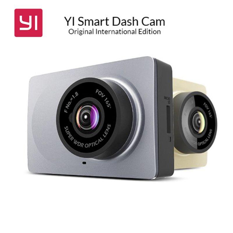 [International Edition] Xiaomi YI Smart Car DVR 165 Degree 2.7 Dash Camera 1080P <font><b>60fps</b></font> ADAS Safe Reminder WIFI Dashcam