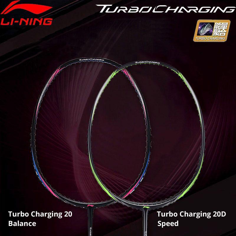 Li-Ning Turbo Lade 20/20D Badminton Schläger Balance/Geschwindigkeit Futter Sport Einzelnen Schläger Keine String AYPM436 /AYPP024 ZYF310