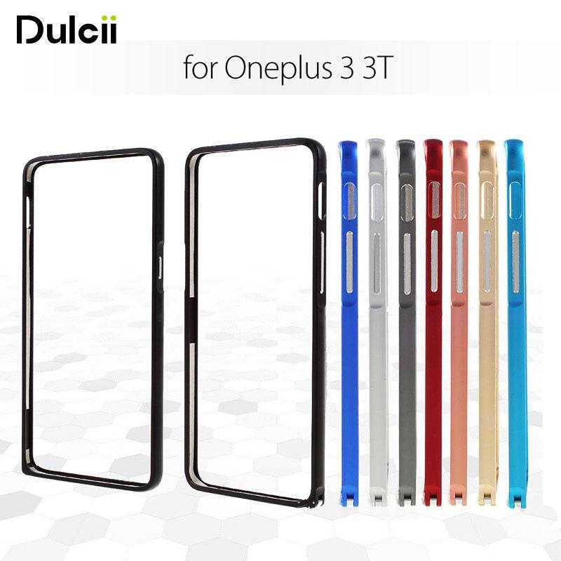 DULCII Pour Oneplus 3 3 T A3000 Cas Hippocampe Boucle En Alliage D'aluminium de Butoir En Métal pour Un Plus Oneplus3T Dos Nu Cadre couverture