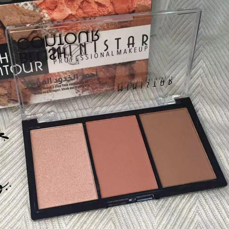 Populaire 3 Couleurs Shimmer Question Blush Profession Blush Bronzer Contour Du Visage Poudre Blush Palette Surligneur Maquillage