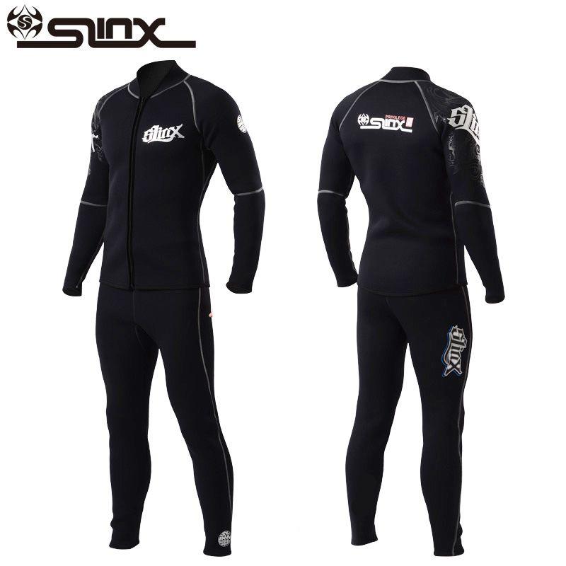 Slinx 3mm Men Women Flocking Diving Jackets & Pants Neoprene Winter Scuba Diving Wetsuit Swimwear for Spearfishing Snorkeling