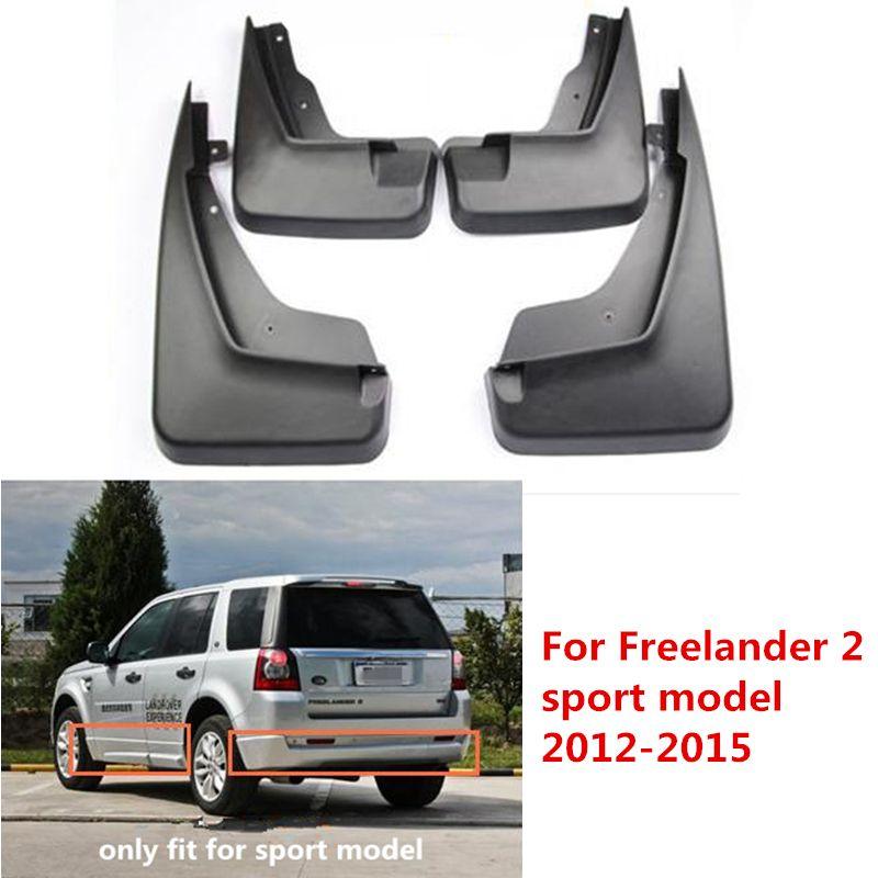 4Pcs For Land Rover Freelander 2 Sport Model Black Front Rear Molded Car Mud Flaps Splash Guards Mudguard Mudflaps Fenders