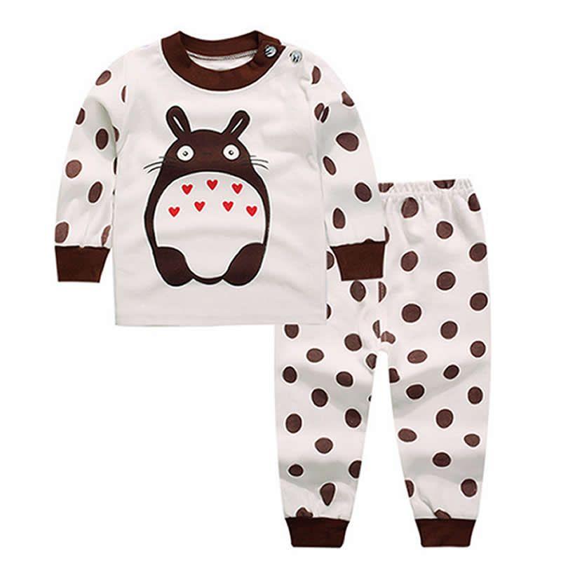 Bébé garçon vêtements nouveau-né Cotton100 % bébé ensemble 2019new mode Totoro babykleding Aanimal imprimer dessin animé bébé filles ensembles