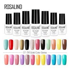 Rosalind 7 ml Pur couleurs gel vernis Semi Permanant UV Longue Durée pour nail art Gel vernis à ongles Besoin LED lampe gel laque