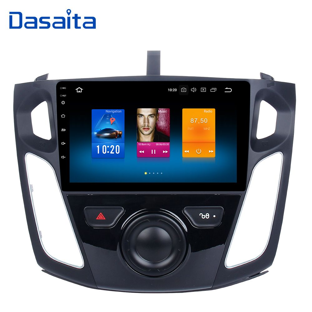 Dasaita Android 8.0 4g 32g Car Radio for Ford Focus 2012 2013 2014 2015 Multimedia with 9