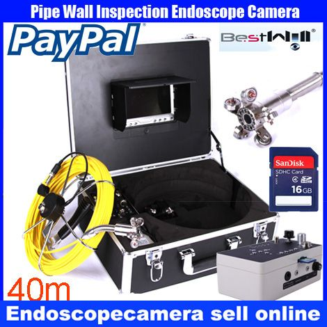 40m DVR Pipe Wall Sewer Inspection Camera System,Industrial Pipe Car Video Inspection Endoscope Camera