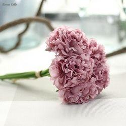 ISHOWTIENDA caliente Artificial de seda falso flores Peony Floral Bouquet nupcial Hydrangea decoración Natural realista hermosa