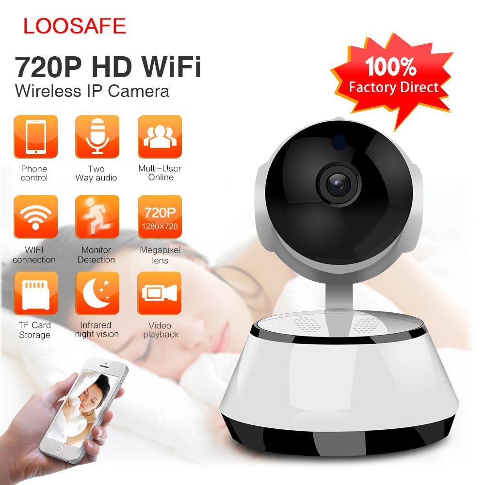 LOOSAFE Wifi Cámara Baby Monitor Wifi Inalámbrico IP de Seguridad IR-Cut Visión Nocturna Home Vigilancia CCTV Cámara de Red PTZ IP Cam