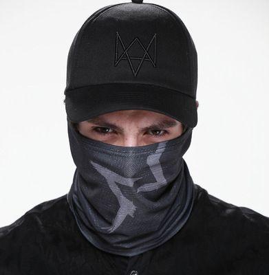 Un ensemble de montre chiens masque casquette coton chapeau Costume Cosplay Aiden Pearce visage masque chapeau hommes 6 panneau Tactique casquettes de Baseball