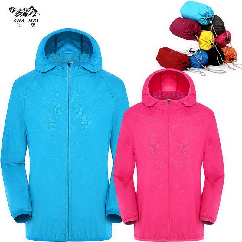 Hommes femmes séchage rapide randonnée veste imperméable soleil et UV Protection manteaux plein air Sport peau vestes été automne pluie mince vestes
