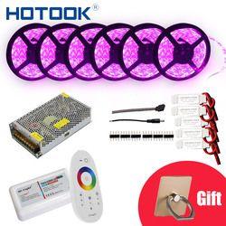 HOTOOK светодиодная лента RGB лента 10м 20м 25м 30м 12 Вольт многоцветная водонепроницаемая светодиодные ленты на батарейках LED лента светодиоды 5050 г...