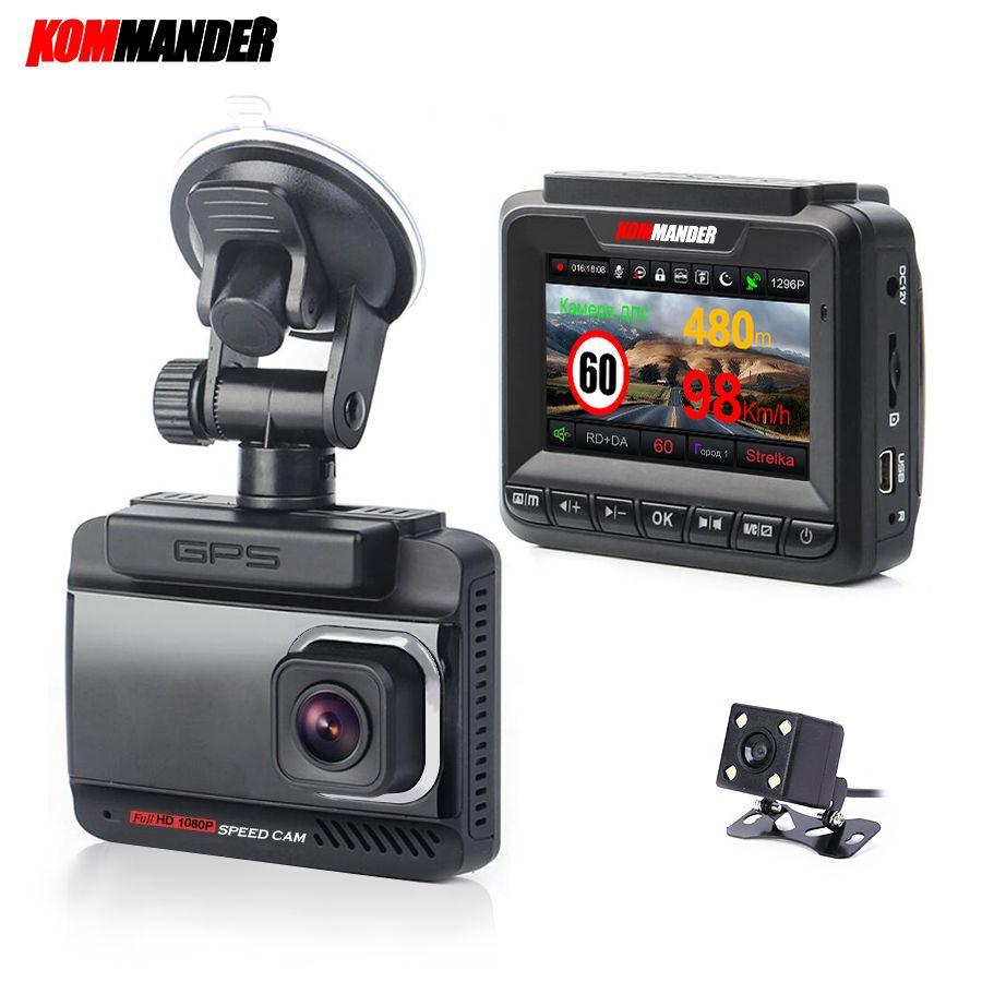 Kommander for cars gps speed camera 3 in 1 anti - radar - full hd 1296 p road dou