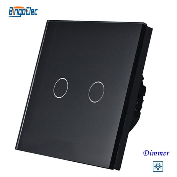 2gang dimmer light switch,2gang1way touch sensor dimmer switch EU/UK standard AC110-250V