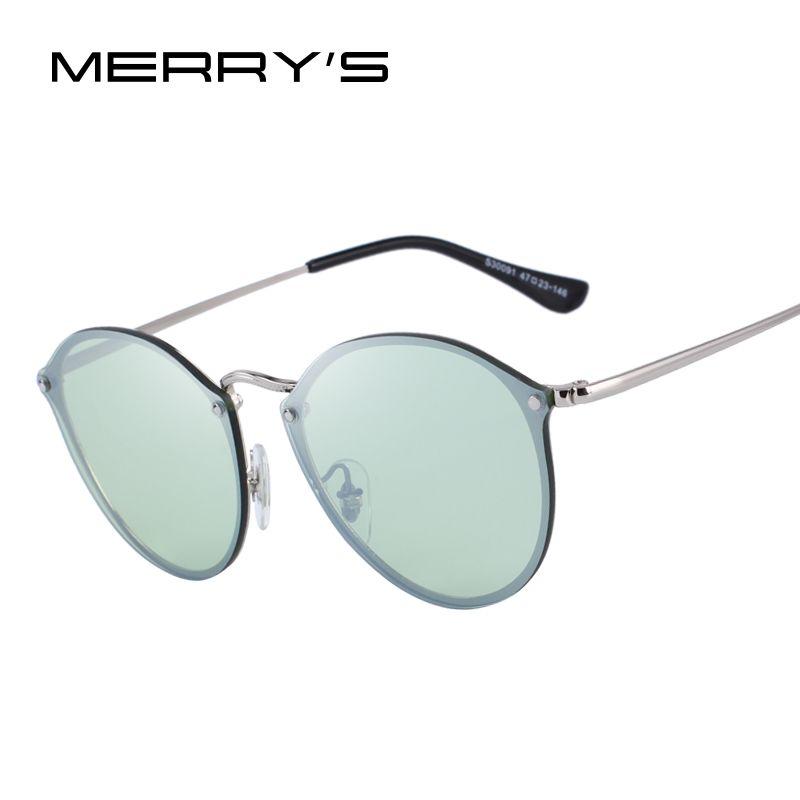 MERRY'S DESIGN Men/Women Classic Retro Oval Sunglasses 100% UV Protection S'6308