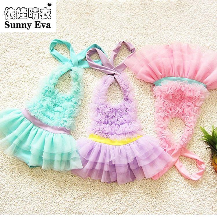 Sunny eva badeanzug mädchen einteilige badebekleidung kinder schwimmen anzug kleine meerjungfrau kinder badeanzug feste badeanzüge