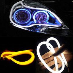 2 pc/lot 30 cm 45 cm 60 cm DRL flexible tubo de LED strip daytime Correr luces girar señal Ángel Ojos car styling blanco/amarillo/azul
